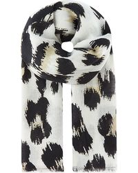 Juicy Couture Leopard Print Scarf Angel - Lyst