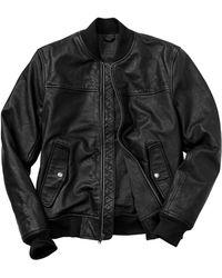 Gap Leather Bomber Jacket - Lyst