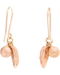 Carolina Bucci 18k Pink Gold and Diamond Owl Wing Earring - Lyst