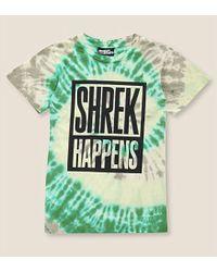 Jeremy Scott Shrek Happens Tie-Dyed Cotton-Jersey T-Shirt - Lyst