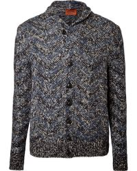 Missoni Printed Knit Linenwool Cardigan - Lyst