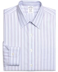 Brooks Brothers Noniron Slim Fit Alternating Hairline Stripe Dress Shirt - Lyst