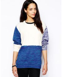 Insight - Eternal Cable Colour Block Knit - Lyst