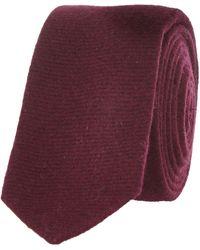 River Island Red Textured Tie - Lyst