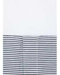 Kris Van Assche - White Stripe Panelled Jersey T-Shirt - Lyst
