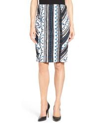 Cece by Cynthia Steffe - Riviera Stripe Knit Pencil Skirt - Lyst