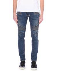 Balmain Panel-Detail Biker Jeans - For Men - Lyst