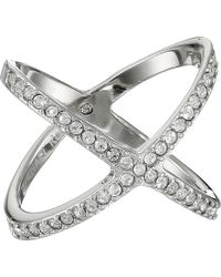 Michael Kors Brilliance Pave X Ring silver - Lyst