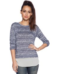 BCBGeneration Long Sleeve Knit Top - Lyst