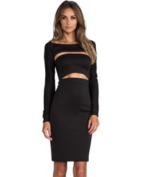 Milly Cutout Shrug Dress - Lyst