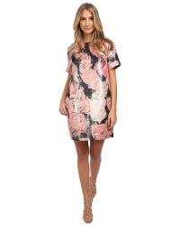 Kate Spade Regal Plumes Platinum Jacquard Dress - Lyst