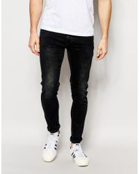 Pepe Jeans - Torr Stretch Skinny Fit Blue Black Acid Wash - Lyst