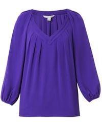 Diane von Furstenberg Purple Cahil Blouse - Lyst