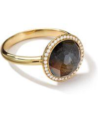 Ippolita - 18k Rock Candy Mini Lollipop Ring In Hematite With Diamonds - Lyst