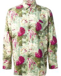 Jean Paul Gaultier - Rose Print Shirt - Lyst