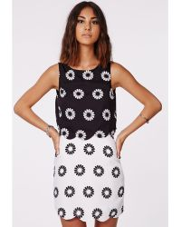 Missguided Rekada Daisy Print Scallop Layered Dress - Lyst