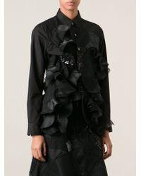 Junya Watanabe Patchwork Ruffle Shirt - Lyst