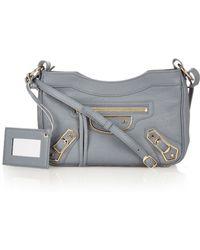 Balenciaga - Classic Mini City Metallic-Edge Cross-Body Bag - Lyst