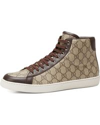 Gucci Brooklyn Gg Supreme Fabric Hightop Sneaker - Lyst
