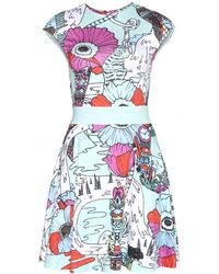 Mary Katrantzou Poppies Printed Jersey Dress - Lyst