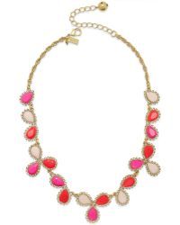 Kate Spade Gold-Tone Balloon Stone Cluster Necklace - Lyst