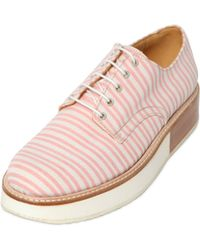 Mobi | 30mm Ministriped Canvas Lace-up Shoes | Lyst