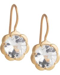 Jamie Wolf Scalloped White Topaz Drop Earrings BdZBYwpNq