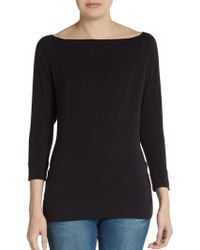 James Perse Hooded Top - Lyst