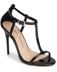 Chinese Laundry 'Leo' Patent T-Strap Sandal black - Lyst