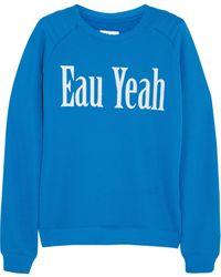 Zoe Karssen Eau Yeah Cottonblend Jersey Sweatshirt - Lyst