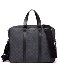 Gucci Gg Supreme Canvas Briefcase - Lyst