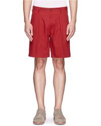 Mauro Grifoni - Pleat Front Cotton Shorts - Lyst