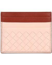 Bottega Veneta Intrecciato Nappa Leather Card Holder - Lyst