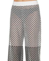 Cecilia Prado - Slit Monochrome Knit Pant - Lyst