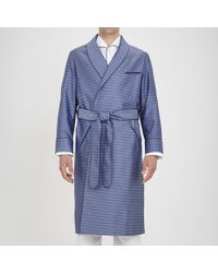 Turnbull & Asser | Exclusive Wavy Squares Silk Gown | Lyst