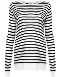 T By Alexander Wang Striped Long Sleeve T-Shirt - Lyst