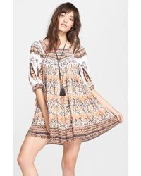 Free People Snap Out Of It-Print Dress - Lyst