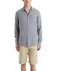 Rag & Bone Striped Beach Shirt gray - Lyst