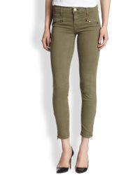 Current/Elliott The Soho Zip Stiletto Skinny Jeans - Lyst