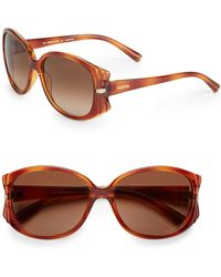 Valentino 58mm Oval Sunglasses - Lyst