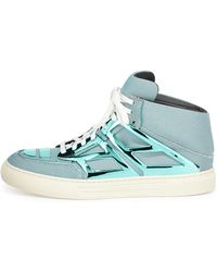 Alejandro Ingelmo Iridescent Metallicplate Hightop Teal - Lyst