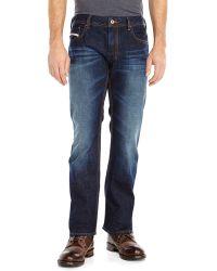 Diesel Dark Wash Zatiny Bootcut Jeans - Lyst