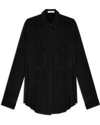 Helmut Lang Gaze Crepe Shirt black - Lyst