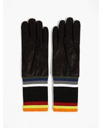 Raf Simons Sterling Ruby Mens Black Leather Gloves - Lyst