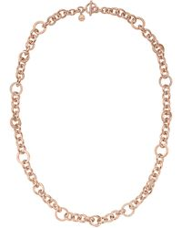 Michael Kors Rose Goldtone Chain Necklace with Crystallized Links - Lyst