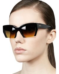 Miu Miu Rasoir Cutoff Square Sunglasses - Lyst
