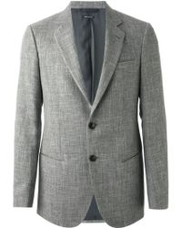 Giorgio Armani Two Button Blazer - Lyst