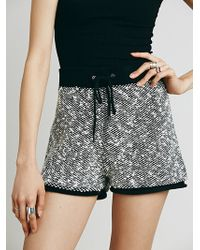 Free People Marbled Knit Short - Lyst