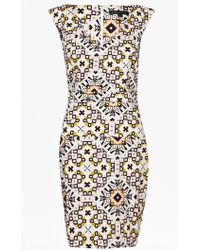 French Connection Electric Mosaic Cotton Dress multicolor - Lyst