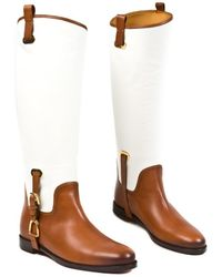 Ralph Lauren Leather Riding Boots - Lyst